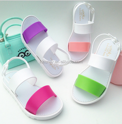 KS30167C 2017 Fancy Children girls pvc sandals cheap kids summer shoes
