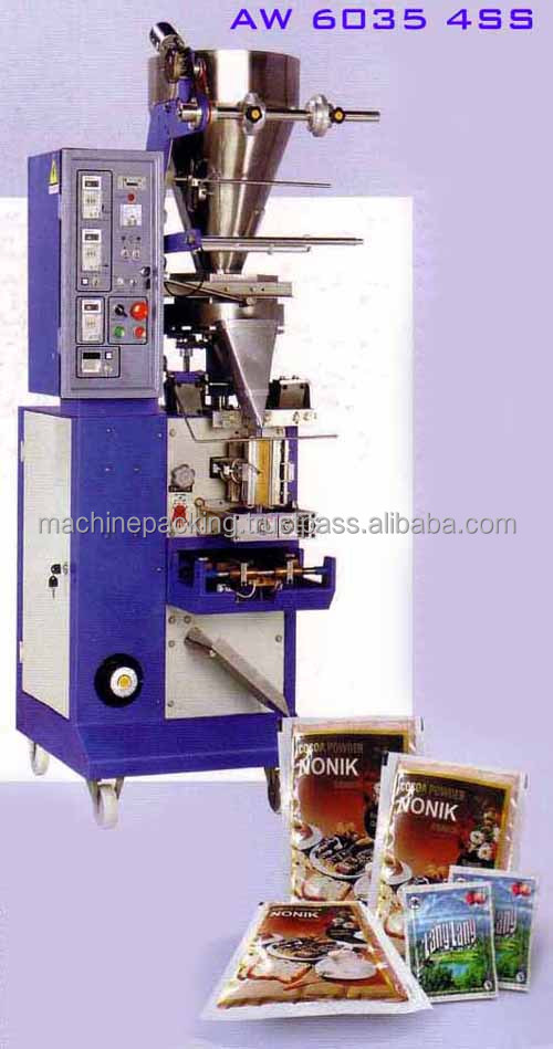 AW 6035 4SS - Vertical Form Fill Seal Packaging Machine for Sachet Food Powder Granule Seed
