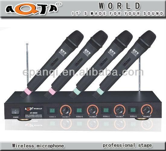 All in one MIC AT-8600VHF wireless microphone vintage microphone