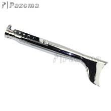 "Left 1 X Side Pazoma High Quality Chrome 30"" Fish Tail Galvanized Iron Motorcycle Exhaust Muffler For Harley Davidson"