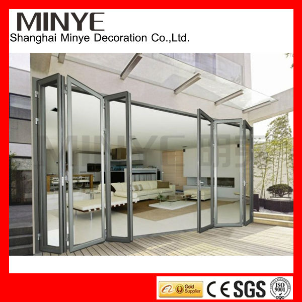 White color cheap interior folding doors & aluminum interior folding doors and insulated folding door