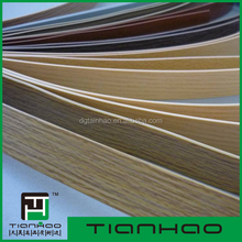 2*22mm size/ woodgrain color/pvc material edge band for furniture