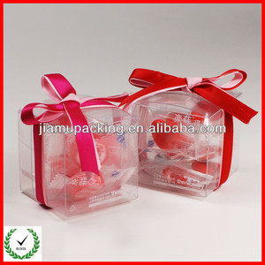square transparent PET/PVC/PP plastic candy gift box