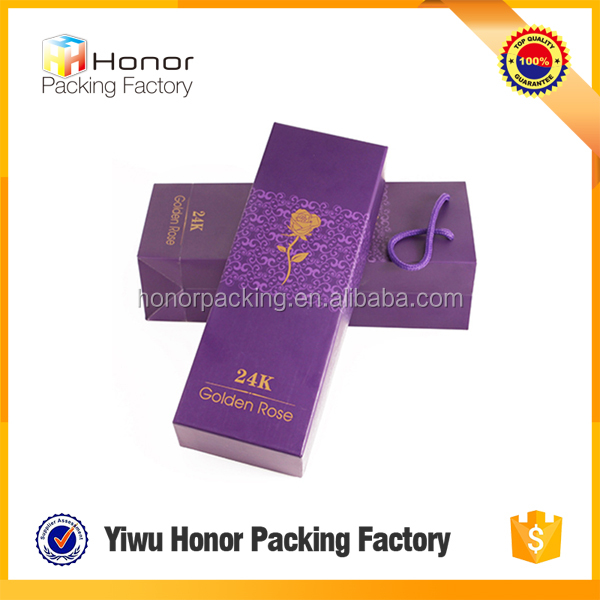 Top quality customized design logo wholesale cheap price elegant paper rose packing box wonderful case box