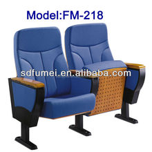 Modern folding conference chair with writing pad