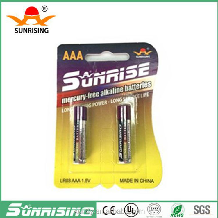 No.7 alkaline battery dry batteries 1.5v aaa battery