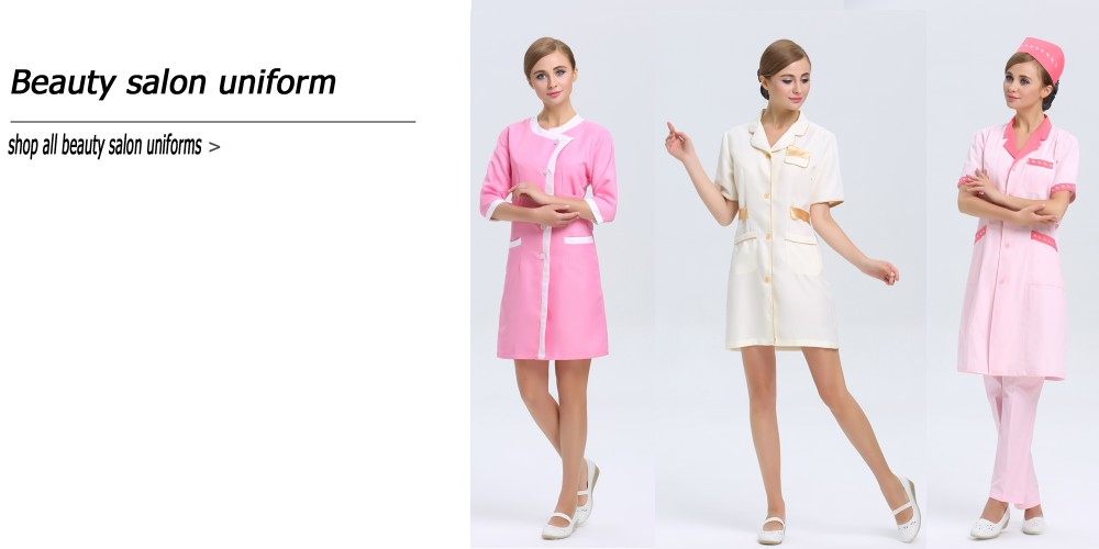 Polyester different types of uniform beauty hair salon for Spa uniform europe
