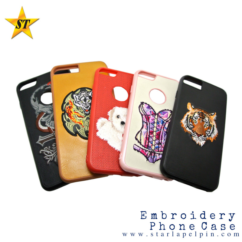 OEM Custom Embroidery mobile phone case for iPhone 6/7 Plus