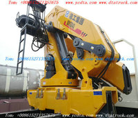 DTA tipper Truck With Crane Customizing dump truck with loading crane(5~16 tons) truck mounted crane / Call:86-15271357675