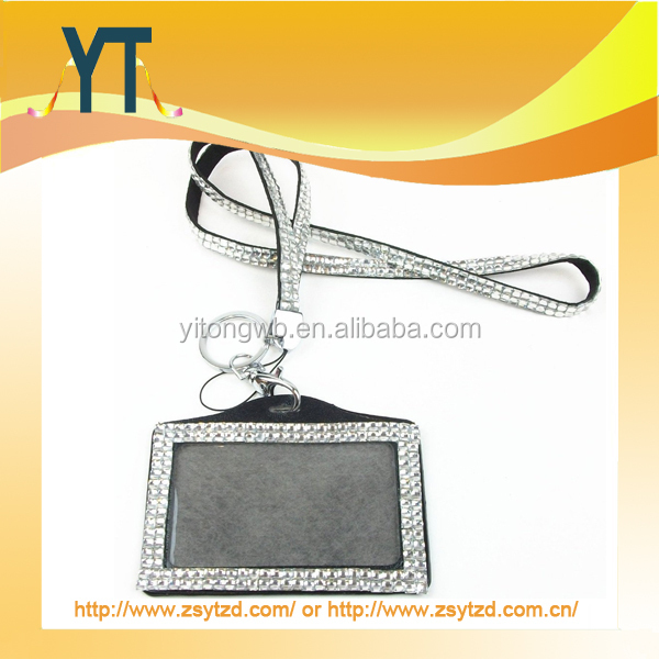 Crystal Lanyards Crystal Decorative Lanyard Rhinestone Lanyard Strap With ID Card Holder