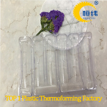 Thermoforming vacuum tray packaging thin plastic trays for glass medicine bottle