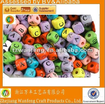 colourful wooden alphabet beads for kids color alphabet beads