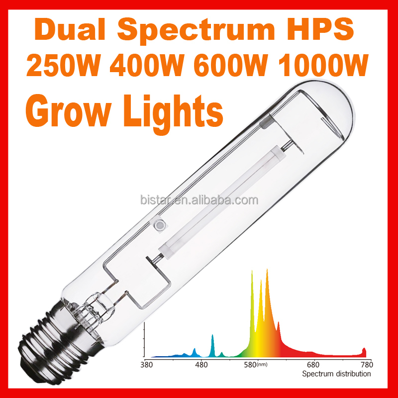 high luminous growing light 600w high pressure sodium lamp for greenhouse