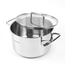 Chef's favourite wonderful cookware easy clean superiority food grade stainless steel triply stockpot soup pot