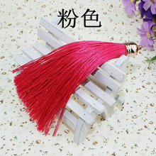Multifunctional double tassel mini graduation tassels elegant curtain tassel with long rope for cell phone