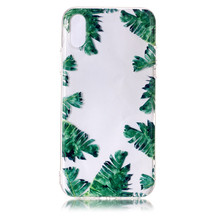 Springtime greenery 3D relief style high quality soft clear TPU mobile phone case for iphone 5 5s SE creative design cover