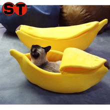 Creative boat shape banana shape funny pet bed dog bed/short plush sofa bed pet cave with cover for cat