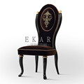 Wholesale high quality expensive price french black shabby chic classic wooden chair designs