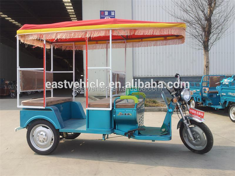 Indian Market Electric Rickshaw for Passenger Open Body