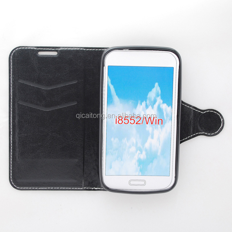 stitching TPU leather case for Samsung Galaxy Win I8552
