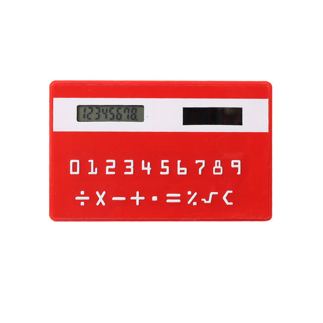 Factory Price Super Thin Card Calculator with Solar Power