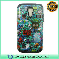 Combo Plastic With Silicon Sublimation Phone Case For Sansung S4mini