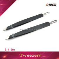 TW1219 Professional large black mini eyelash eyebrow tweezers