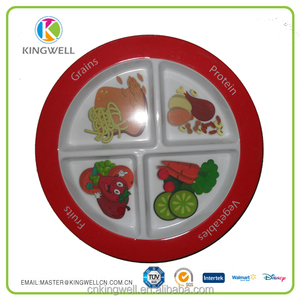 Kids Melamine 4 Compartment Divided Plate Wholesale Plate