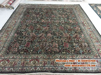Blue handmade silk on silk arts and crafts oriental chinese silk carpets price