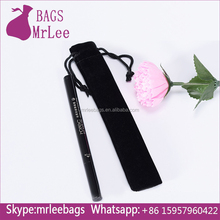 High Quality Black Velvet Fabric Drawstring Pencil Pouch Pen Holder Bags