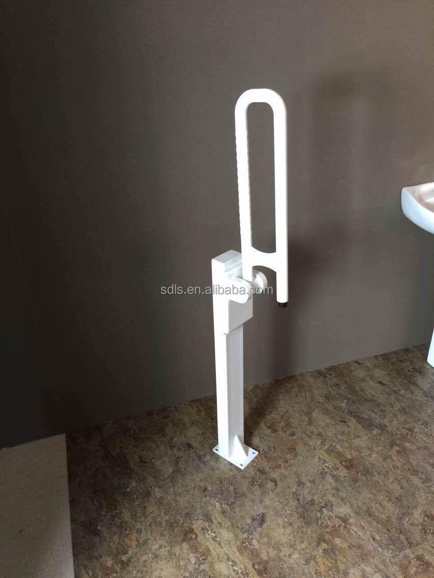 Toilet Folding Grab Bar Floor Mounted Buy Toilet Folding