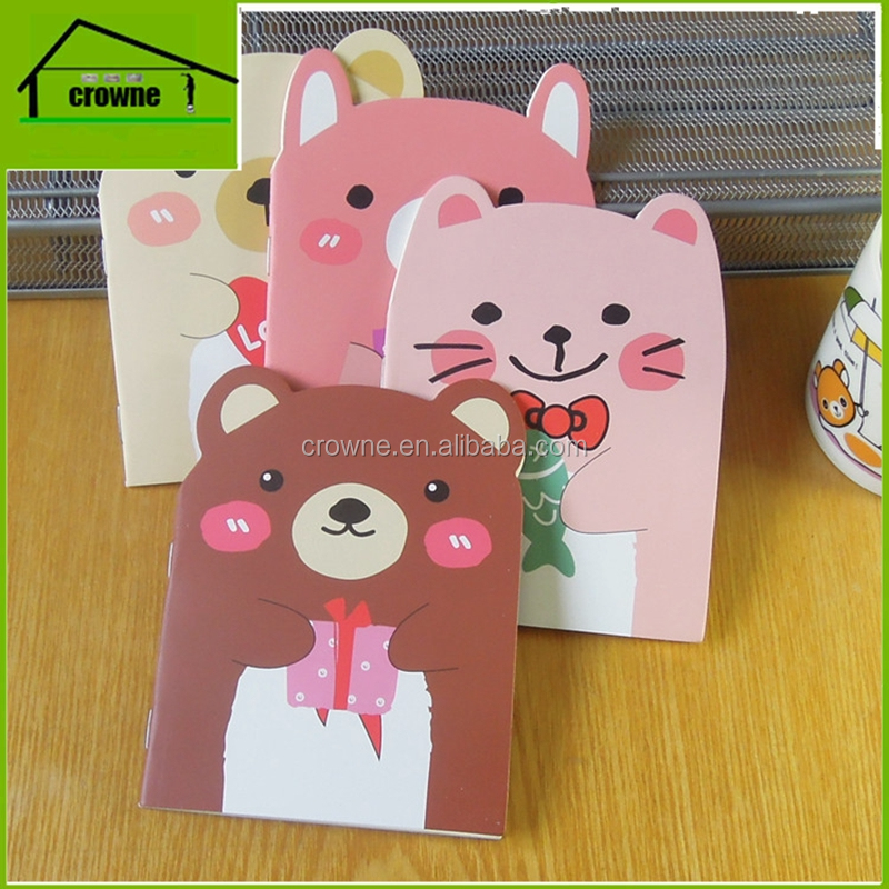 Bear Shape small notebook with a small cute cartoon notebook Korean stationery wholesale