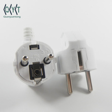 White German French style 16A Europe assembly plug 4.8MM