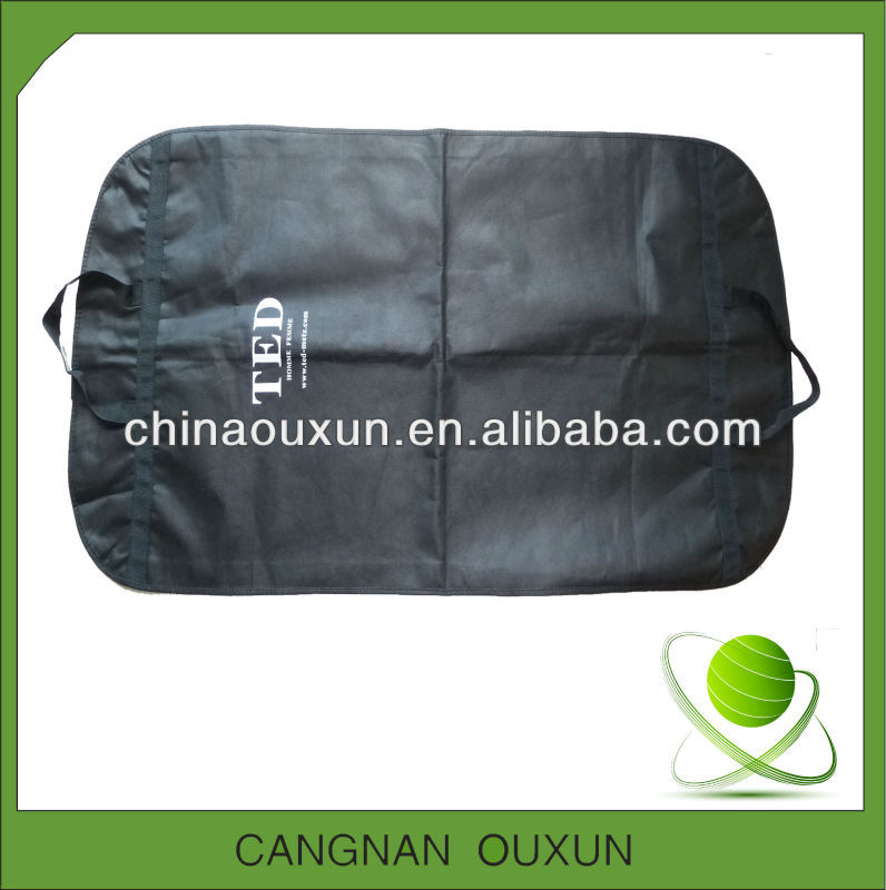 Latest foldable non woven garment packaging bag