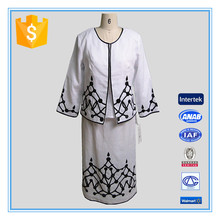 Business Women Formal Suits With Embroidery