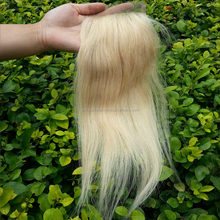 natural straight brazilian virgin human blonde hair silk base lace closure