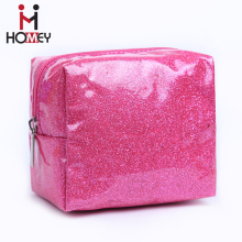 2017 Fashion oem custom wholesale pvc plastic bling guangzhou cosmetic travel toilet bag