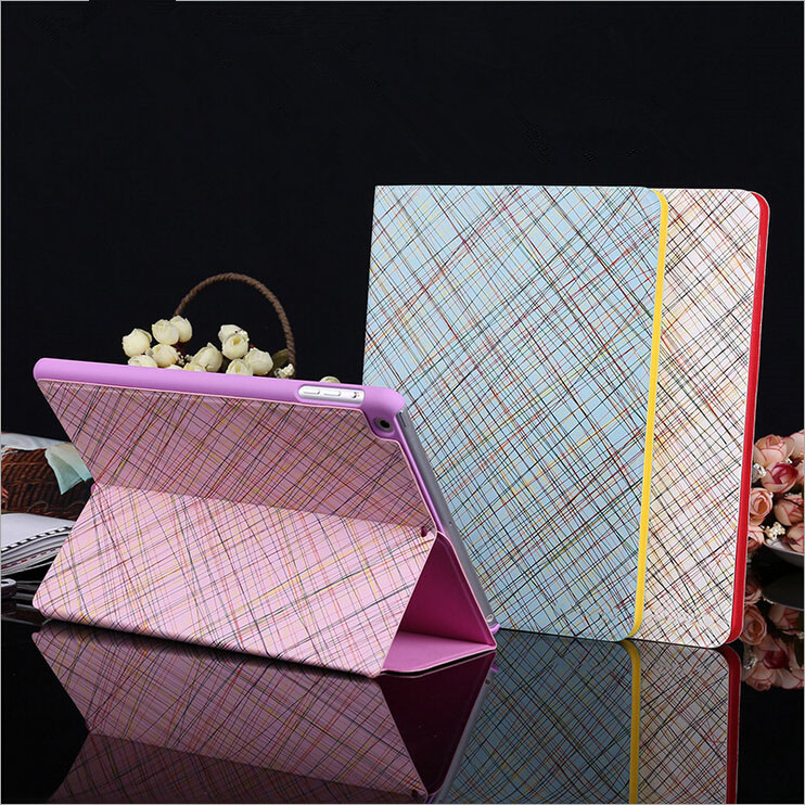 Painting series Magnetic PU leather Stand Case For iPad 2,3,4, Sleep Wake Flip Cover For iPad 2