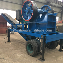 High quality stone crushing station jaw crusher, diesel engine mobile jaw crusher for sale