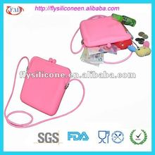 Pink Clear Silicone Tote Bag For Woman New Design 2012