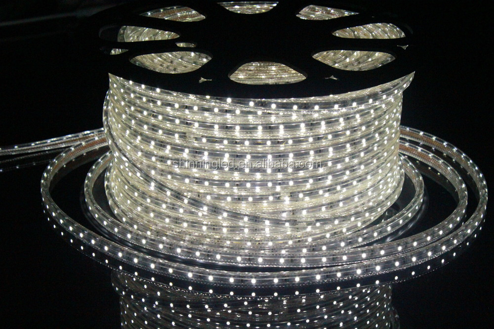 Hot sale 100m/roll high voltage 220V/230V/240V 2700K smd 5050 tira led ultra bright led strip lighting