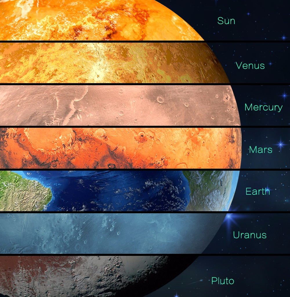 FL10138-V Self-adhesive The Planets Venus Luminous Sticker