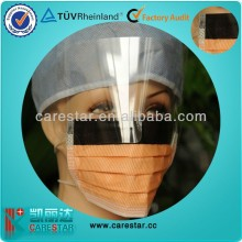 White and Blue Anti-fog Face Shield 4ply Non-woven Disposable Face Mask