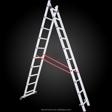 Insulated firefighting portable 6m aluminum telescopic narrow step ladder parts