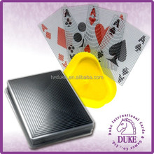 Square coil Transparent warterproof plastic playing cards