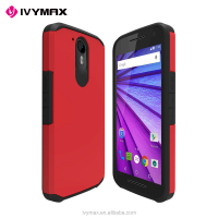 Latest new arrival hybrid dual layer mobile phone case for motorola moto g4 plus case cover