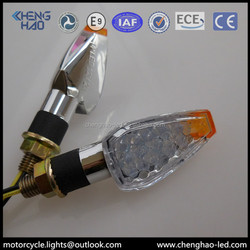 Chenghao black LED integrated turn light motorcycle with clear reflector