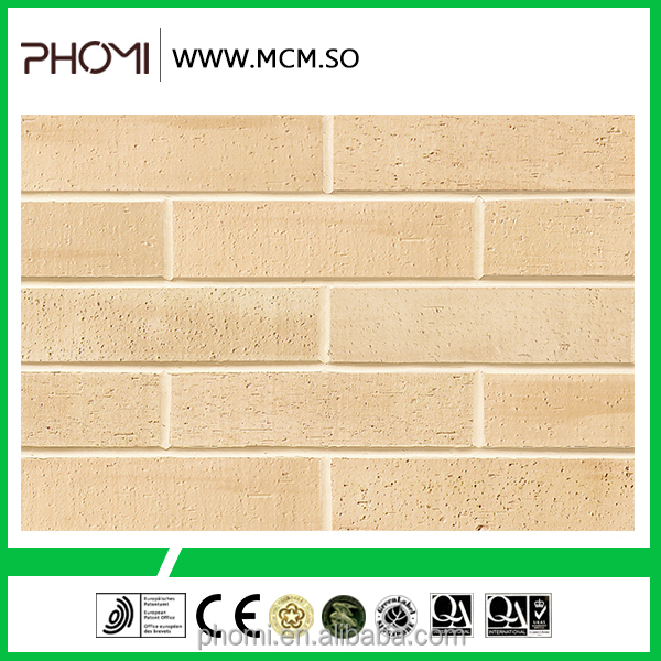 Flexible clay China supplier exterior and interior decoration grey decorative brick