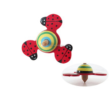Wooden Colorful Animal-shaped Peg-top Spinning Top Toy