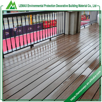 Rich experienced wpc smooth surface composite decking